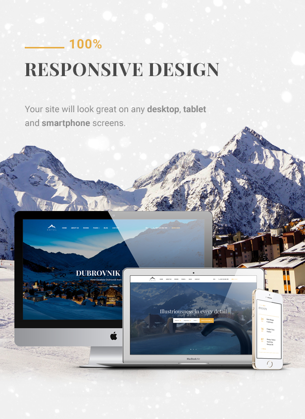 Hotel WordPress theme - Fully Responsive
